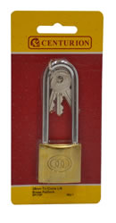 38 mm Brass Long Shackle Tri-Circle Padlock