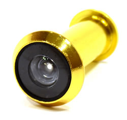 180 degree Polished Brass Door Viewer