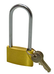 40 mm 1 1 / 2 inch Brass Long Shackle Padlock