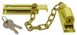 115 mm Polished Brass Locking Door Chain