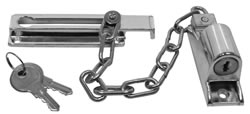 115 mm Chrome Plated Locking Door Chain