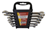 6 Piece 8-17 mm Combination Spanner Set