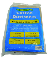 12 x 9 Cotton Twill Dust Sheet