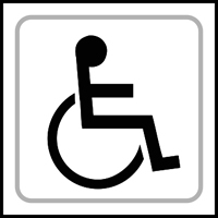 Disabled graphic - Tactile Sign 150 x 150mm