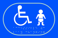 Disabled baby change graphic - Tactile Sign 225 x 150mm