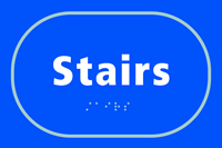 Stairs - Tactile Sign 225 x 150mm