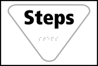 Steps - Tactile Sign 225 x 150mm