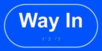 Way in - Tactile Sign 300 x 150mm
