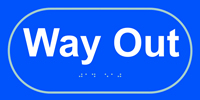 Way out - Tactile Sign 300 x 150mm