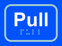 Pull - Tactile Sign 100 x 75mm
