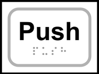 Push - Tactile Sign 100 x 75mm