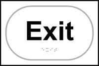 Exit - Tactile Sign 225 x 150mm