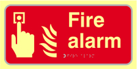 Fire alarm - TactilePh 300 x 150mm