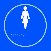 Ladies graphic - Tactile Sign 150 x 150mm