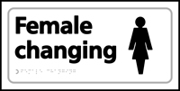 Female changing - Tactile Sign 300 x 150mm