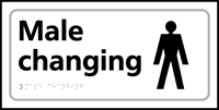 Male changing - Tactile Sign 300 x 150mm
