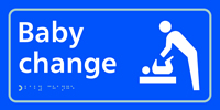 Baby change with symbol - Tactile Sign 300 x 150mm