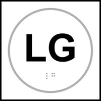 LG text - Tactile Sign 150 x 150mm