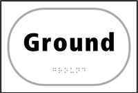 Ground - Tactile Sign 225 x 150mm