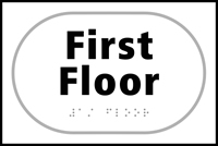 First Floor - Tactile Sign 225 x 150mm