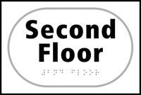 Second Floor - Tactile Sign 225 x 150mm