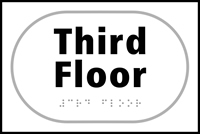 Third Floor - Tactile Sign 225 x 150mm