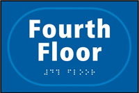 Fourth Floor - Tactile Sign 225 x 150mm