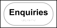 Enquiries - Tactile Sign 300 x 150mm