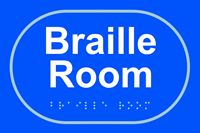 Braille room - Tactile Sign 225 x 150mm