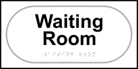 Waiting room - Tactile Sign 300 x 150mm