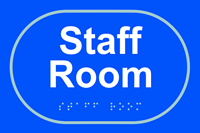 Staff room - Tactile Sign 225 x 150mm