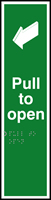 Pull to open - Tactile 75 x 300mm