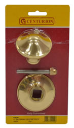 3 inch Polished Brass Victorian Centre Door Knob
