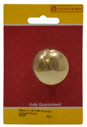 38 mm 1 1 / 2 inch Polished Brass Victorian Cupboard Knob