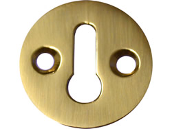 1 1 / 4 inch Polished Brass Victorian Escutcheon
