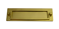 10 inch x 3 inch Polished Brass Victorian Postal Knocker