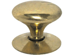 12 mm 1 / 2 inch Polished Brass Victorian Cupboard Knob