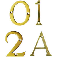 75 mm 3 inch Polished Brass Victorian A Door Letter