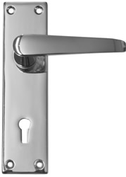 Victorian Chromed Straight Lever Lock Handle
