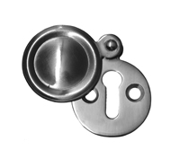 1 1 / 4 inch Chrome Plated Victorian Escutcheon with Cover