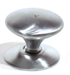 32 mm 1 1 / 4 inch Satin Chrome Plated Victorian Cupboard Knob