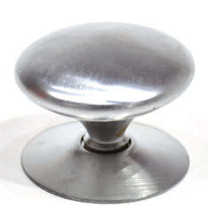 38 mm 1 1 / 2 inch Satin Chrome Plated Victorian Cupboard Knob