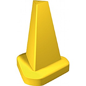 Yellow 510mm cone with your own text sign