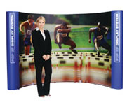 1 x 3 Standard 1.85 metres high pop up exhibition stand printed graphics only sign