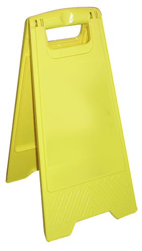 Customisable yellow a board sign price includes own text printable area = 232x345mm sign