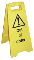 1 out of order sign