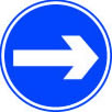 Right arrow sign