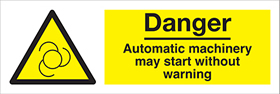 300 x 100mm safety sign
