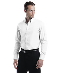 Kustom Kit Tailored Fit Oxford Long Sleeve Shirt