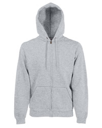 Fruit of the Loom Mens Premium Zipped Hooded Sweat Shirt